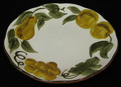 """7 in. in diameter Stangl Pottery """"Sculptured Fruit"""" plate hp with raised fruit"""