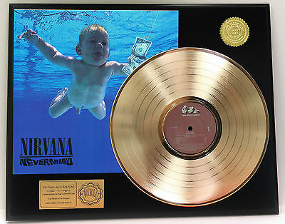 Nirvana - Nevermind - Rare 24k Gold LP Record Display - Free USA Shipping