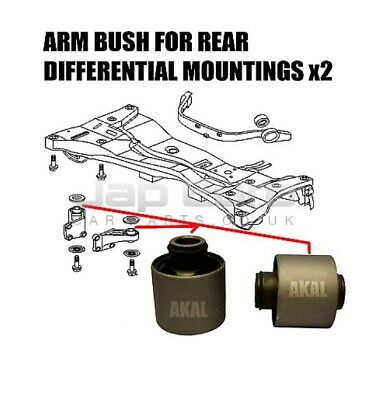 For Mitsubishi Outlander Airtrek 2003> Rear Differential Diff Arm Mount Bush Set