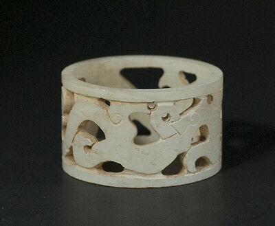 An opend work jade ring from China