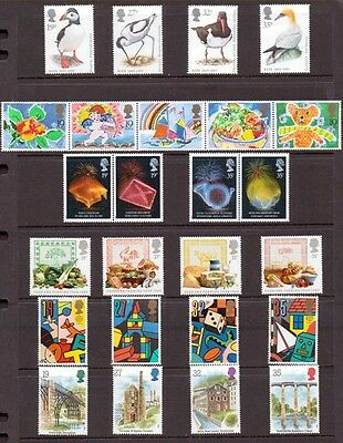 1989 Commemorative Stamps year set INCLUDES GREETINGS AND M/S, unmounted mint