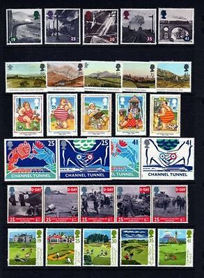 1994 Commemorative Stamps, incl 10 x 1st Greetings, Year Set, unmounted mint