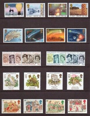 1986 Commemorative Stamps year set unmounted mint