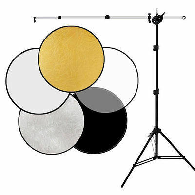 "Photo Studio 32"" 80cm 5in1 Collapsible Light Reflector Stand Arm Photography Kit"