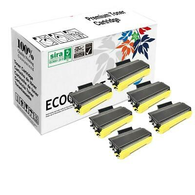 6 Pack BLACK Toner For Brother TN580 TN650 MFC-8460N MFC-8860DN MFC-8870DW