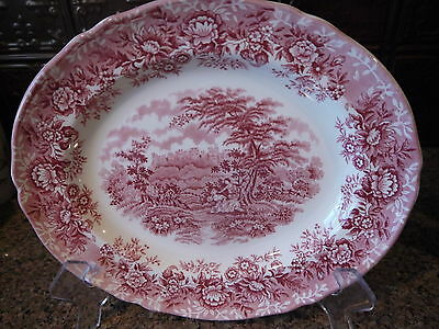 Alfred Meakin The Courtship Oval Serving Platter