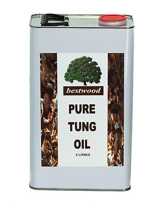 Pure Natural Tung Oil, Bestwood, 5 Litres, furniture, worktops, inside, outside