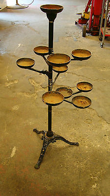 Vintage Cast Iron Plant Stand holding 10 Plants, Moveablle