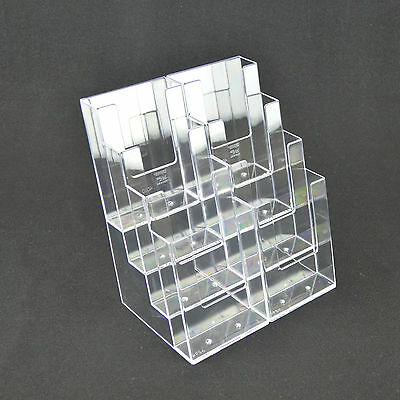 1/3rd A4 DL (100mm x 210mm) 4 Tier, 8 Bay Leaflet Holder Display Stand BPS8C110