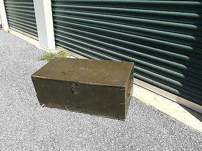 Vintage Military Foot locker storage box Vietnam era old army war Lot #2