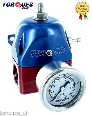 Torques AN -8 JIC-8 ORB-8 EFI Adjustable Fuel Pressure Regulator 30-70PSI +GAUGE