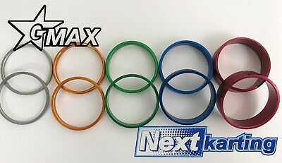 GMax Kart 50mm Rear Hub Spacers Set of 10 Spacers - Rotax X30 TonyKart -