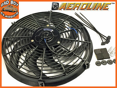 "14"" Aeroline® Electric Radiator 12v Cooling Fan Curved Blade For CLASSIC CARS"
