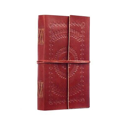 Fair Trade Handmade Extra Extra Large Embossed Leather Journal Diary Notebook