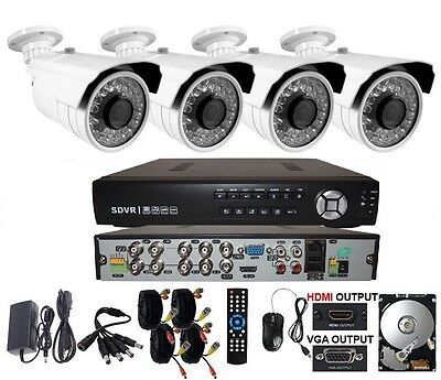 8 Channel Surveillance Outdoor Security CCTV DVR System 1TB HDD Sony CCD 700 TVL