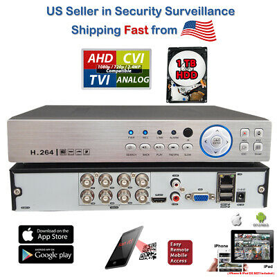 4CH Channel H.264 Network Digital Video Recorder DVR Full D1 Real Time 1TB HDD