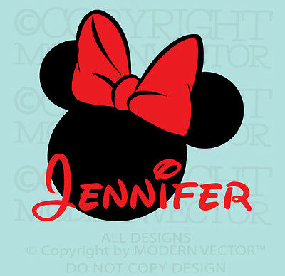 PERSONALIZED Minnie Mouse Name Vinyl Wall Decal Girls Room Nursery Disney Design