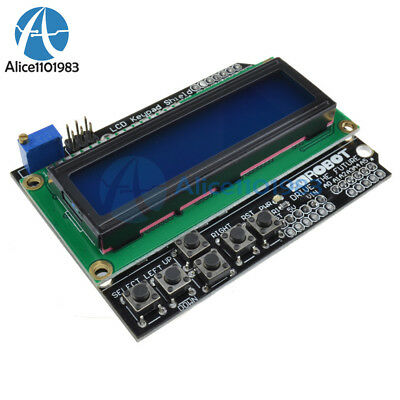 1602 LCD Board Keypad Shield Blue Backlight For Arduino LCD Duemilanove Robot