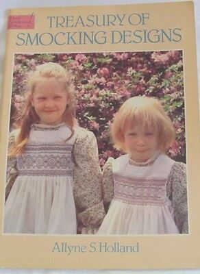 Dover Needlework Series TREASURY OF SMOCKING DESIGNS Allyne S Holland