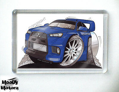 MITSUBISHI EVOLUTION X Sports Car Koolart Quality Fridge Magnet