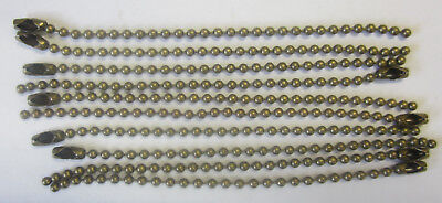 10 x 10cm Ball Chain & Connector Bronze For Scrapbooking, Key Chains & Jewellery