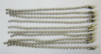 10 x 10cm Ball Chain & Connector Silver For Scrapbooking, Key Chains & Jewellery