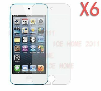 6X Clear Ultra Thin Screen Protector For Apple iPod Touch 5 5G 5TH 5Gen