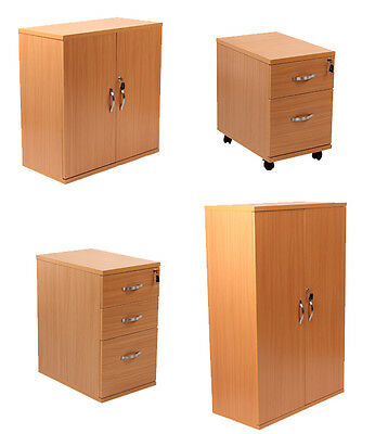 Wood Office Furniture Pedestals Drawers Shelves Cupboards in Beech