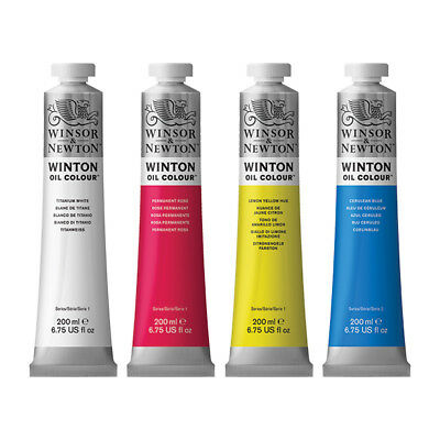 Winsor & Newton Winton Oil 200ml x4 tubes colour choice