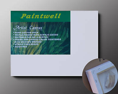 """Pack 20 Paintwell / Luca Canvas 5x5""""(13x13cm),35mm thick"""