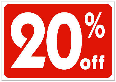 20% off retail store sale Business Discount Promotion Message signs