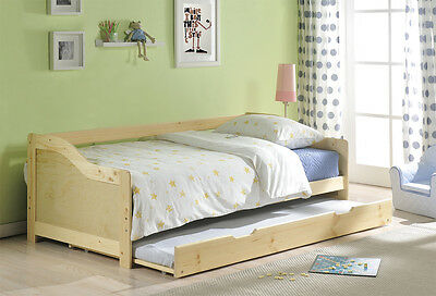 Day Bed Single Bed with Underbed. 2 beds in 1, Choose either Pine or White