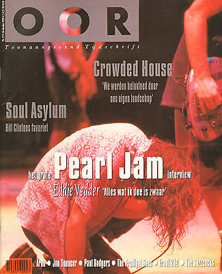 MAGAZINE OOR 1993 nr. 21 -  PEARL JAM / FRONT 242 / JON SPENCER / CROWDED HOUSE