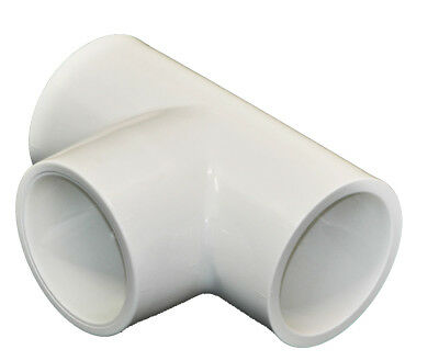 Swimming Pool Pipe ABS 2 '' inch Straight Tee Fitting Pool Spa Hot Tub Plumbing