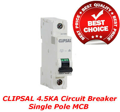 Clipsal 4.5Ka 20A Circuit Breaker Single Pole MCB Switchboard Distribution Board