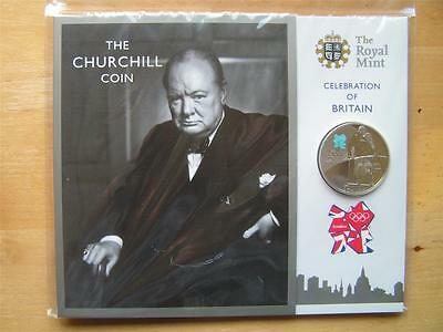 Olympic Royal Mint WINSTON CHURCHILL £5 Proof Coin Pres Pack Celebration Britain