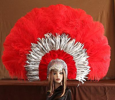 FM117 Hand Crafted Feather Mask