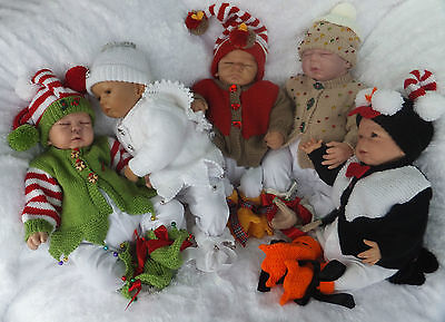 Knitting Pattern To Make More Merry Christmas Babies 3 Sizes For Baby Or Reborn