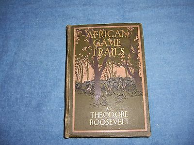 AFRICAN GAME TRAILS by Theodore Roosevelt/1st Ed/HC/Travel/Illustrated
