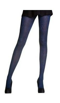 Opaque Pretty Polly ANIMAL TIGHTS... INDIGO WITH BLACK.. One Size- Womens Girls