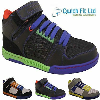 Boys Designer Hi Tops Trainers New Kids High Ankle Flat Canvas Pumps Boots Shoes