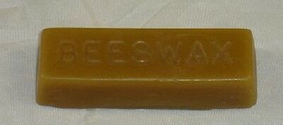 One Pure 100 % Beeswax Rectangle Block - Approx 1 Oz Woodturning- Shoe Polish