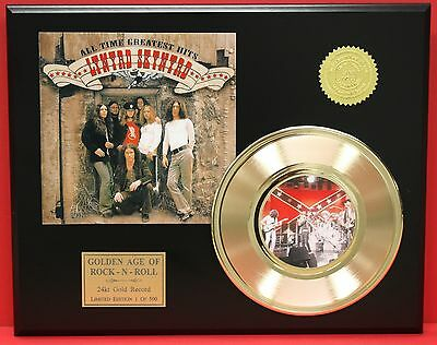 Lynyrd Skynyrd - 24k Gold Record & Picture Sleeve Display - Free USA Shipping
