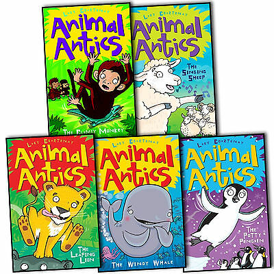 Lucy Courtenay Animal Antics 5 Children Books Collection Pack Set The Potty New