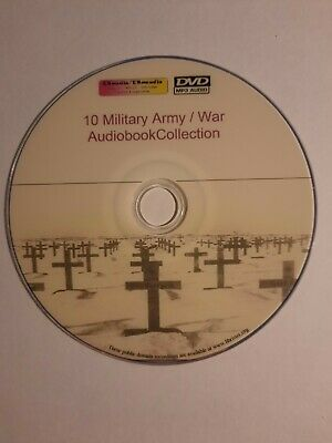 10  Military  Army  War audiobook collection MP3/ Digital, Unabridged DVD 60hrs