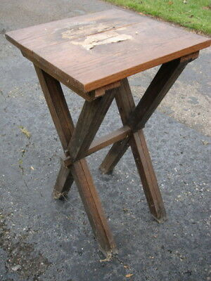 Arts & Crafts Mission Oak Lamp Table * AS IS