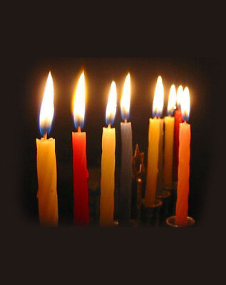 Box of 44 Coloured Chanukah CANDLES..... Jewish Judaica Hannukah Menorah Lights