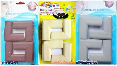 4PCs EVA Foam Baby Toddler Safety Corner Protection Guard Cushions 3 COLOURS