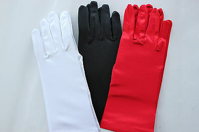 New below elbow/wrist length gloves 24cm 3 colors party/halloween