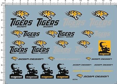 Decals TIGERS for different scales 60704